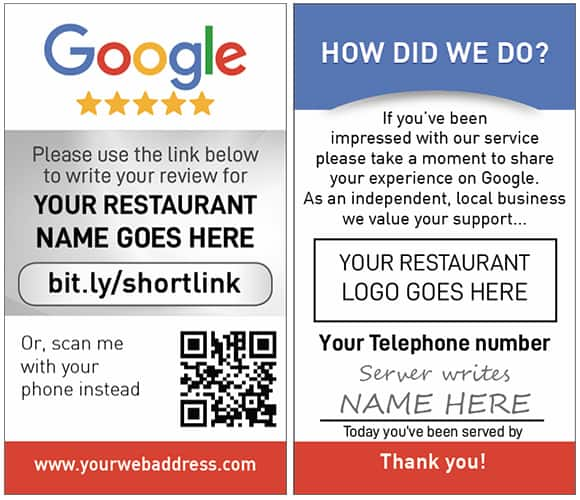 Google My Business Personalized Server Cards | Review Cards