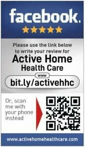Facebook review cards for Active Home Health Care