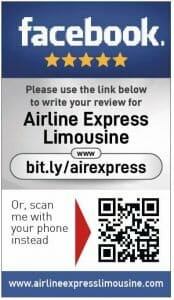 Facebook review cards for Airline Express Limousine