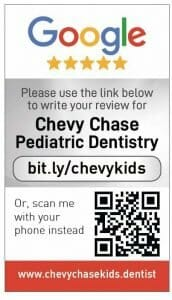 Google my business review card for Chevy Chase Dentistry