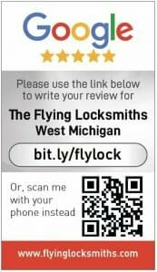 Google my business review card for Flying Locksmith