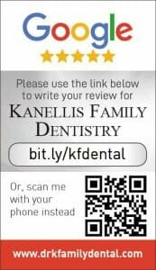 Google my business review card for Kennelis Family Dentistry