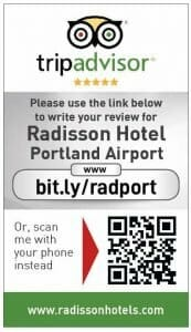 Tripadvisor review card for Radisson Portland