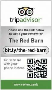 Tripadvisor review card for Red Barn
