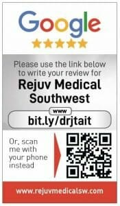 Google my business review card for Dr J Tait
