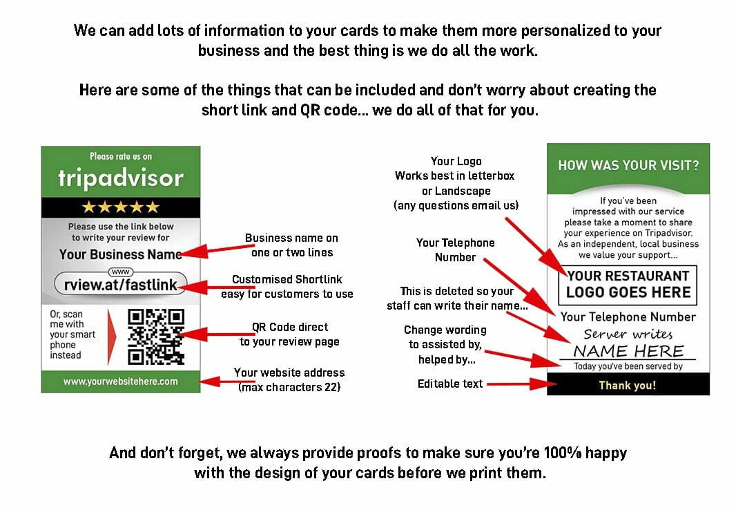 what you can edit on your Tripadvisor Server review cards